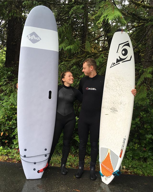 Tofino, you were a treat! @johnbutlernz and I loved the waves and the tacos 🌮 thanks to @gaileenirwin for the pictures!  #tofino #surfing #tacos #catchingthegnar #chestermansbeach #wickaninnish #holidaydoneright