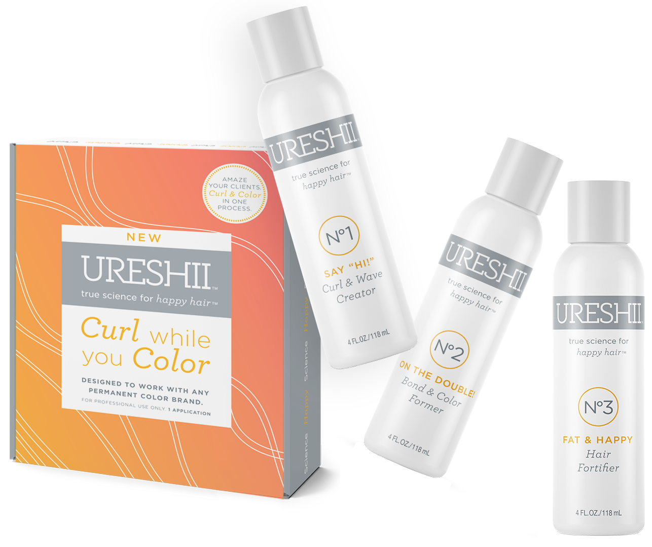 Prepare to amaze your clients … Finally you can deliver permanent color and curl in the same process. -