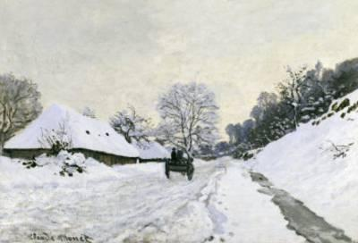 <strong>Winter</strong><br>'Route in the Snow near Hofleur'