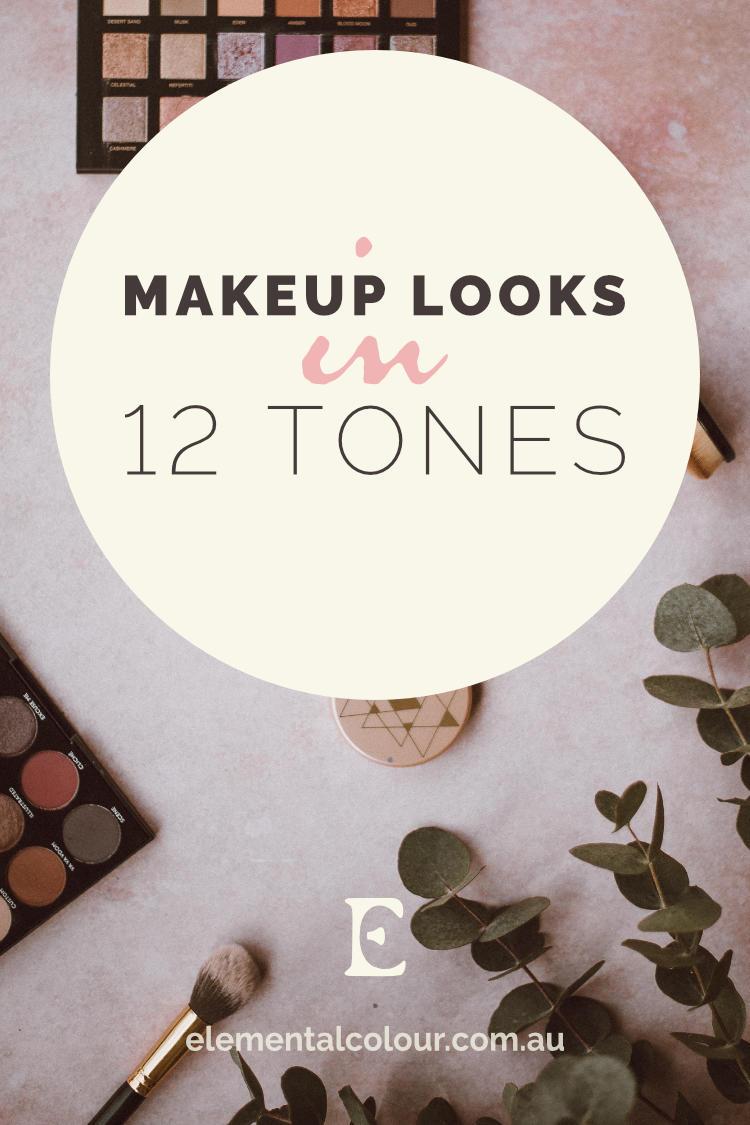 Makeup Looks in 12 Tones:  Beautiful makeup inspiration for each tone