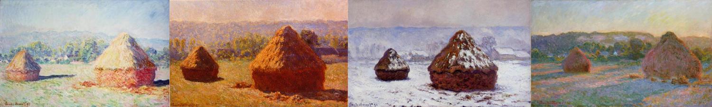 Monet's Haystacks series of paintings