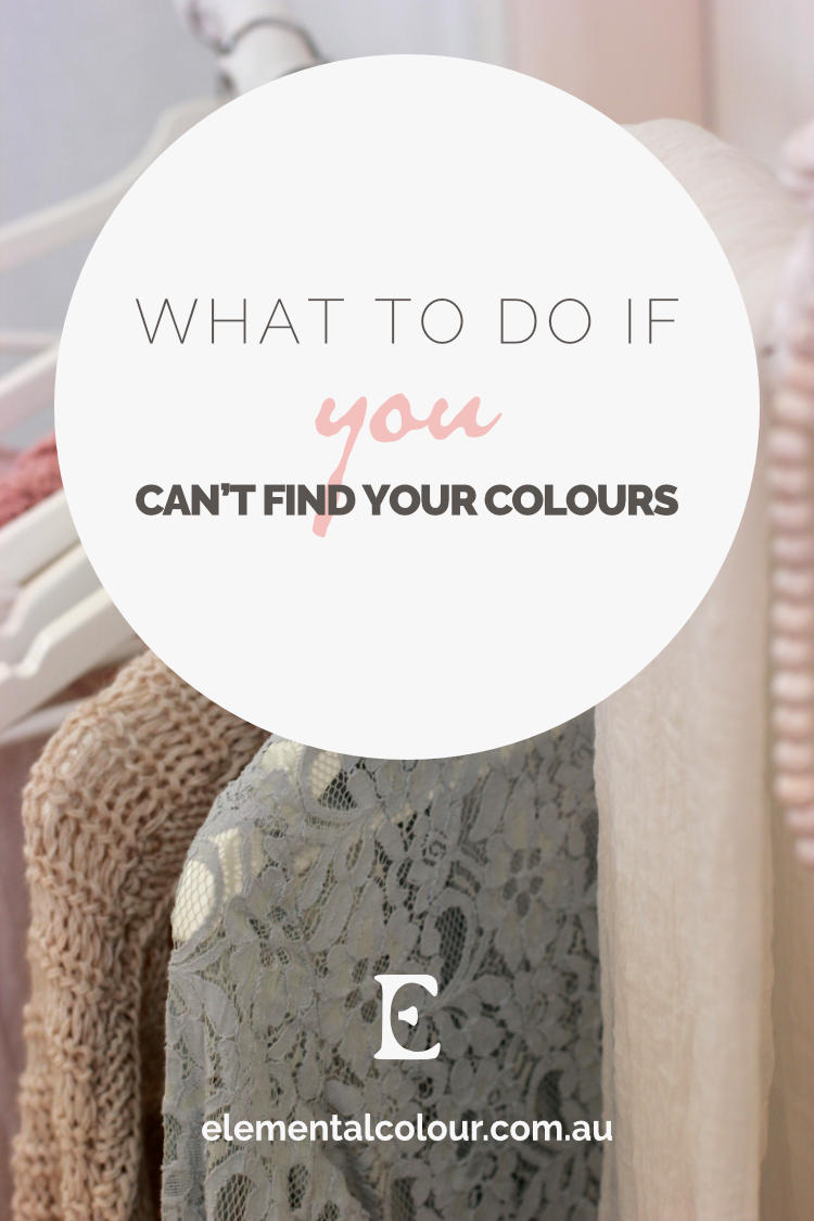 What to Do If You Can't Find Your Colours:  Where to look, and how to compromise