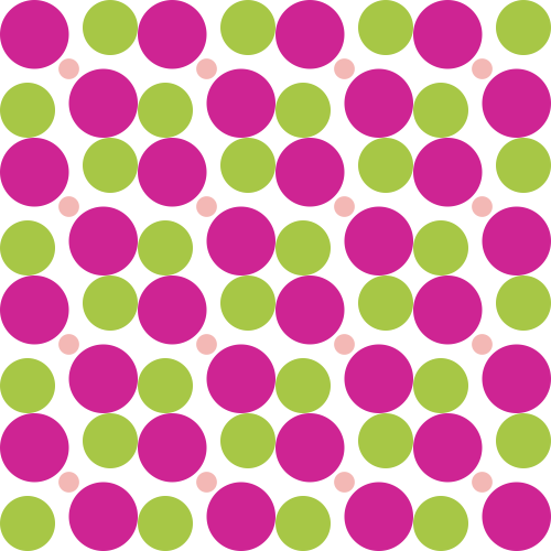 Bright Winter spot pattern with small Soft Autumn spots
