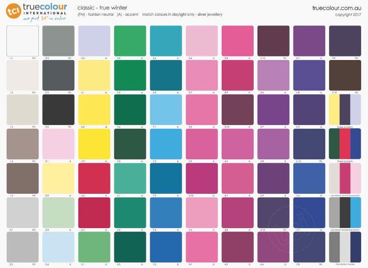 TCI True Winter classic palette