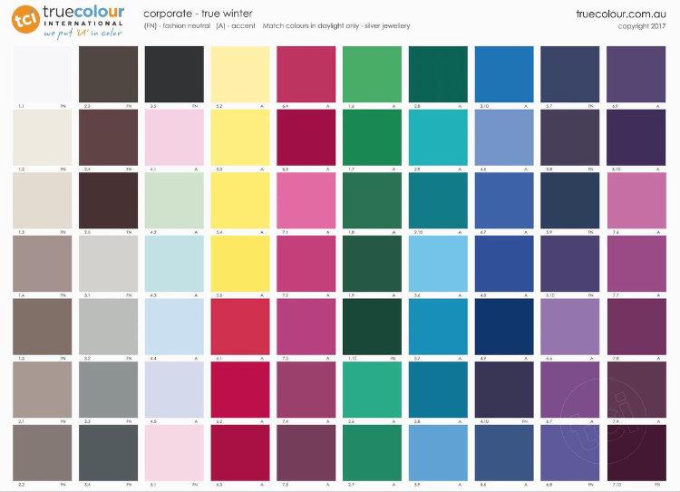 TCI True Winter corporate palette