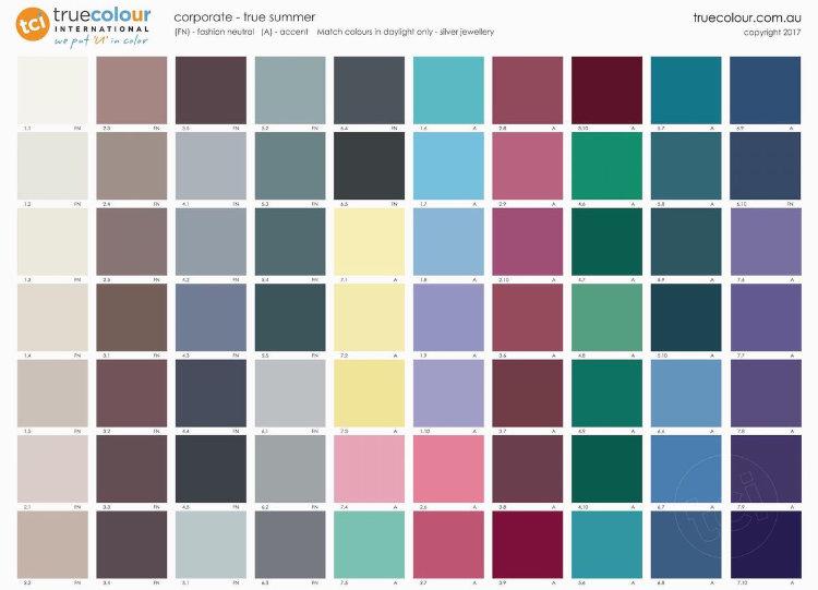 TCI True Summer corporate palette