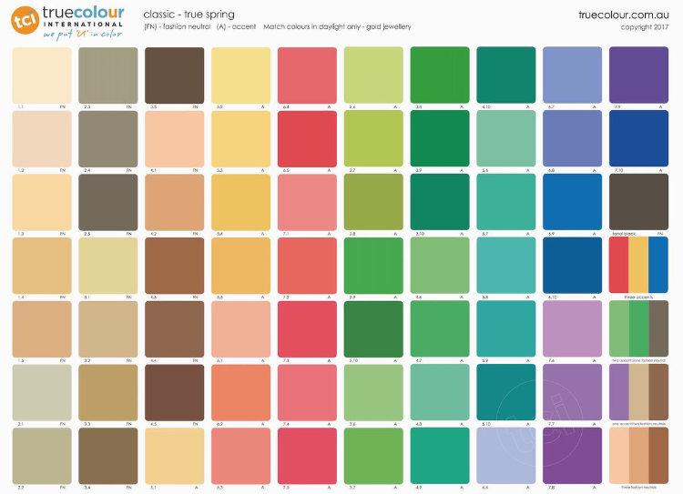 TCI True Spring classic palette