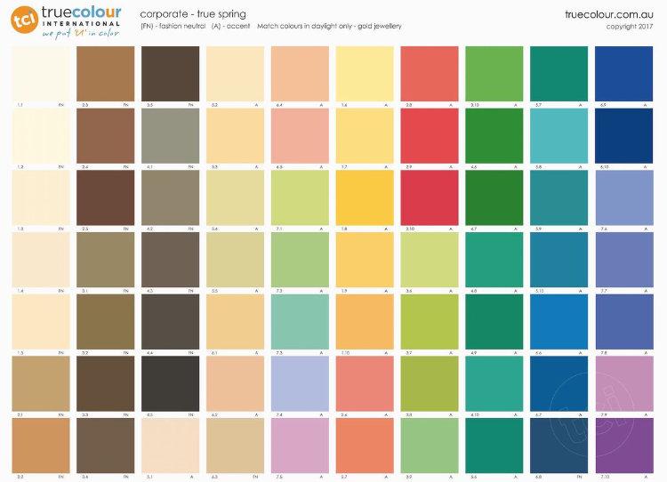 TCI True Spring   corporate palette