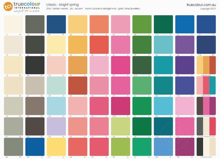 TCI Bright Spring classic palette