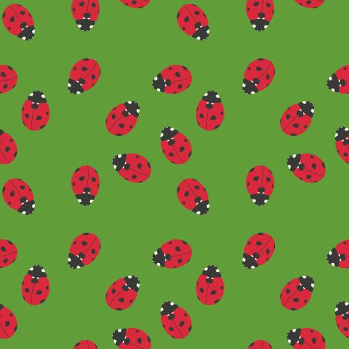 Bright Spring ladybird pattern