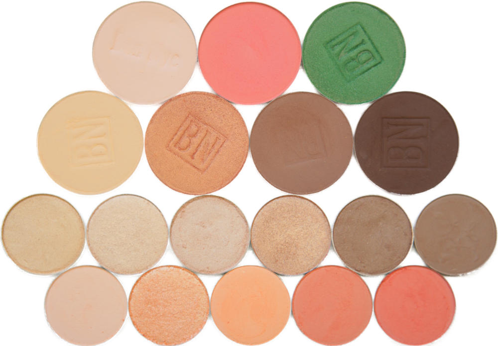 Top row: Shell, Suburbia, Mermaid Green  2nd row: Banana, Golden Apricot, Taupe, Mink Stole  3rd row: Rapunzel, Let Me Explain, Shimma Shimma, Ringer, Hipster, Chestnut-Napped Apalis  Bottom row: Hear Me Out, Ready Or Yacht, Issues, Lay Low, Wait For It