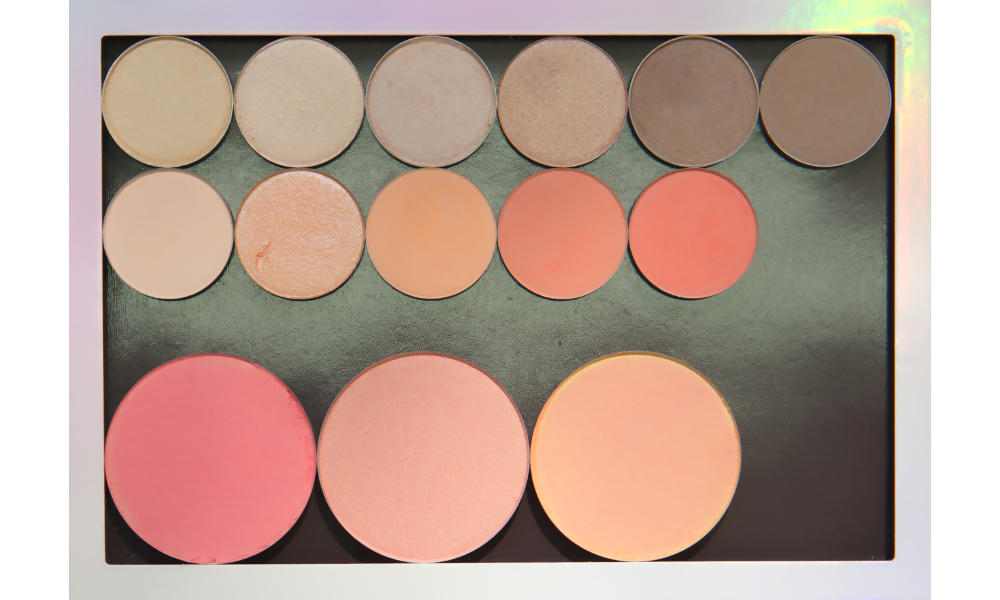 Large freestyle palette from  Colour Pop   Top row:  Rapunzel ,  Let Me Explain ,  Shimma Shimma ,  Ringer ,  Hipster ,  Chestnut-Napped Apalis   Middle row:  Hear Me Out ,  Ready Or Yacht ,  Issues ,  Lay Low ,  Wait For It   Bottom row (blushes):  XOXO ,  Romance ,  Bliss