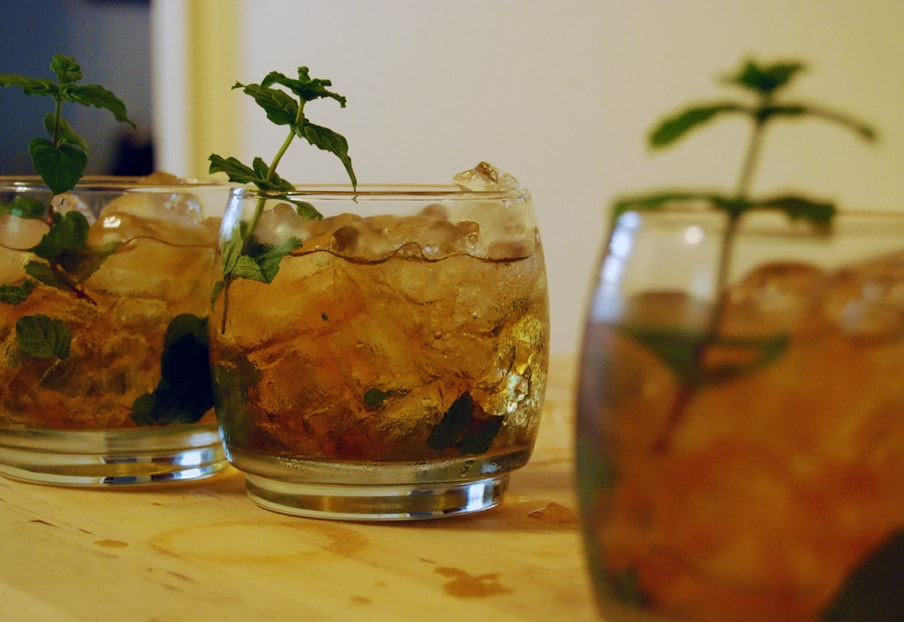 Random Facts - 120,000 mint juleps are imbibed each year during the first weekend of May at the Kentucky Derby.The world's largest mint julep was a functional display at the derby coming in at 6 feet tall and 206 gallons!