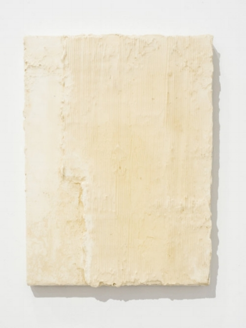 - Ben Loong,Grout, 2016, resinated drywall plaster on canvas, 40 x 30 cm.Image courtesy of the artist.