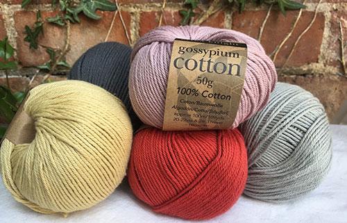 Erika Knight — 100% Cotton Yarn - A stunning range of colours from Erika Knight's gossypium range of cotton yarns from England.