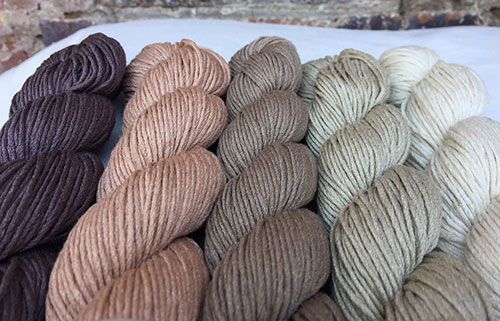 Erika Knight Studio Linen Yarn - Available in earthy colours for all your knitting and crotchet projects.