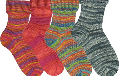 Opal Sock Yarn - Multi-coloured wool-blend yarn for durability and wear.