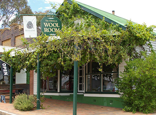 Visit the Uralla Wool Room is on the New England Highway to see our huge range of Merino wool fine clothing for women, men and children, and our extensive range of hand-dyed yarns and commercial yarns.