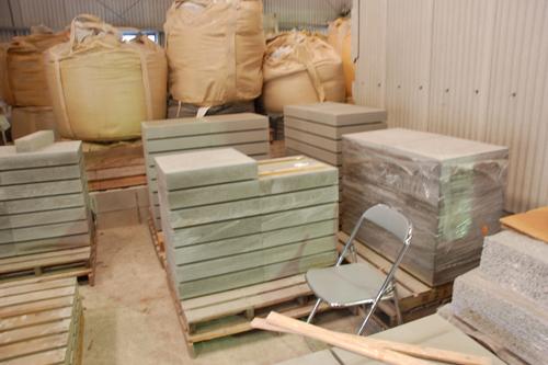 ④加工前のシラス平板ブロック