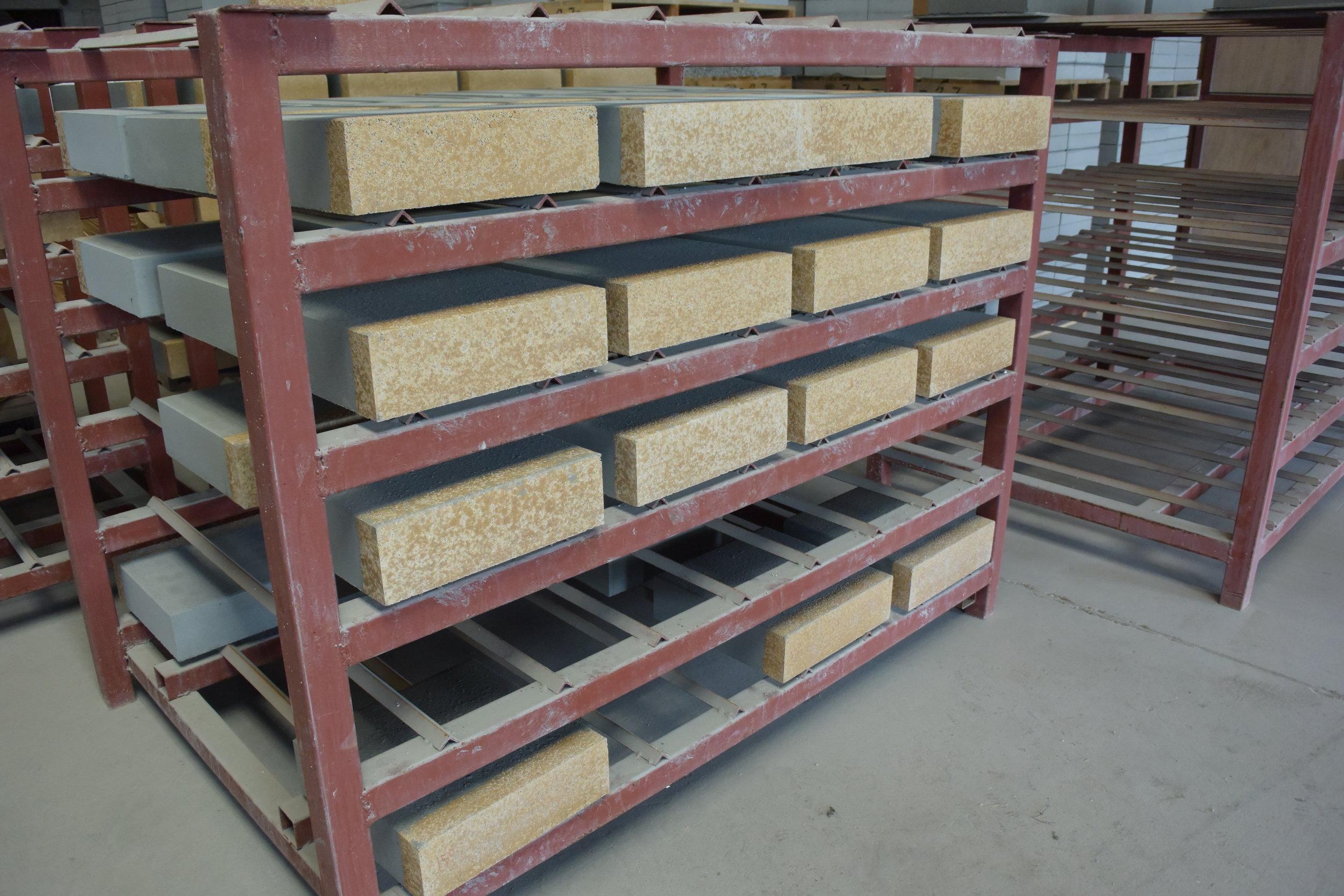 ①2層ブロックの製造