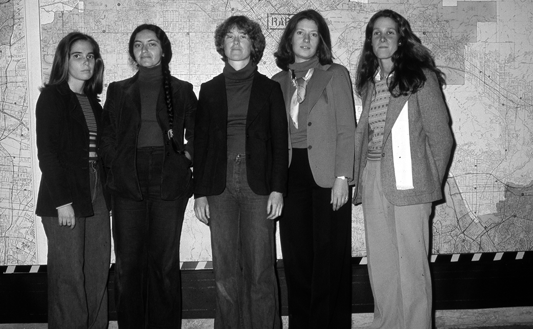 Artist and collaborators: Melissa Hoffman, Leslie Labowitz, Suzanne Lacy, Jill Soderholm, and Barbara Cohen.