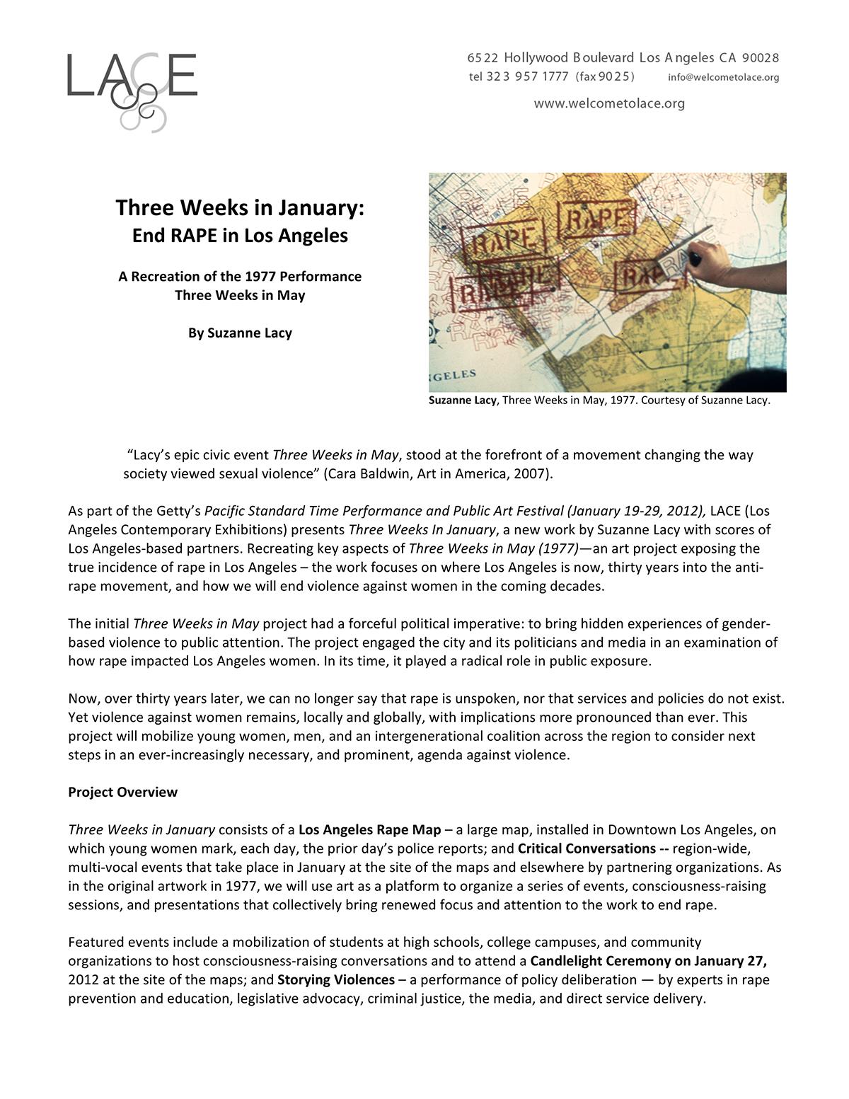Three Weeks in January - Performance Description