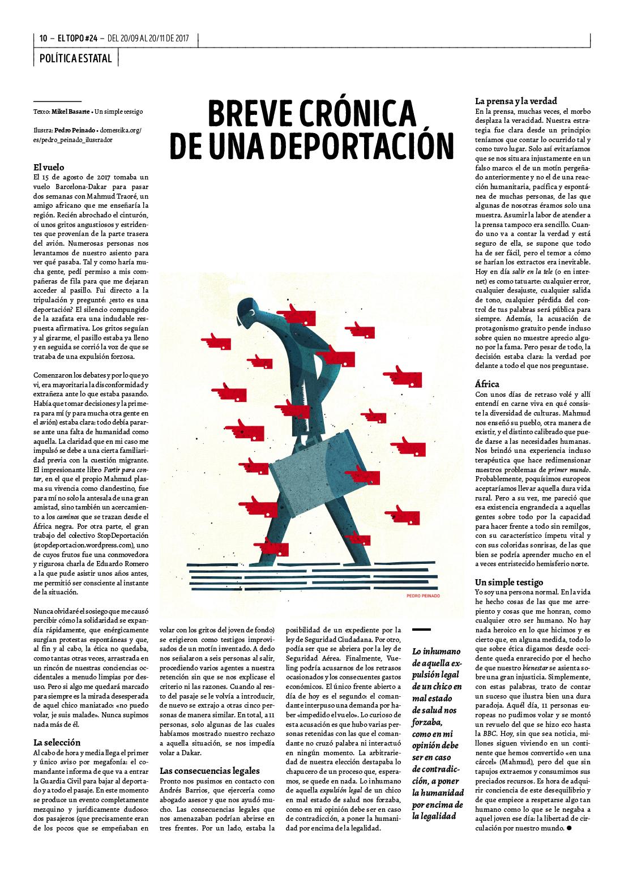 Breve crónica de una deportación. El Topo