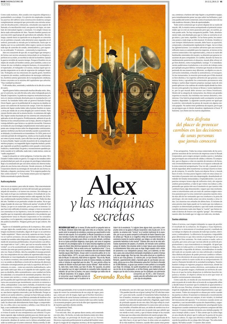 Alex y las máquinas secretas. Diagonal