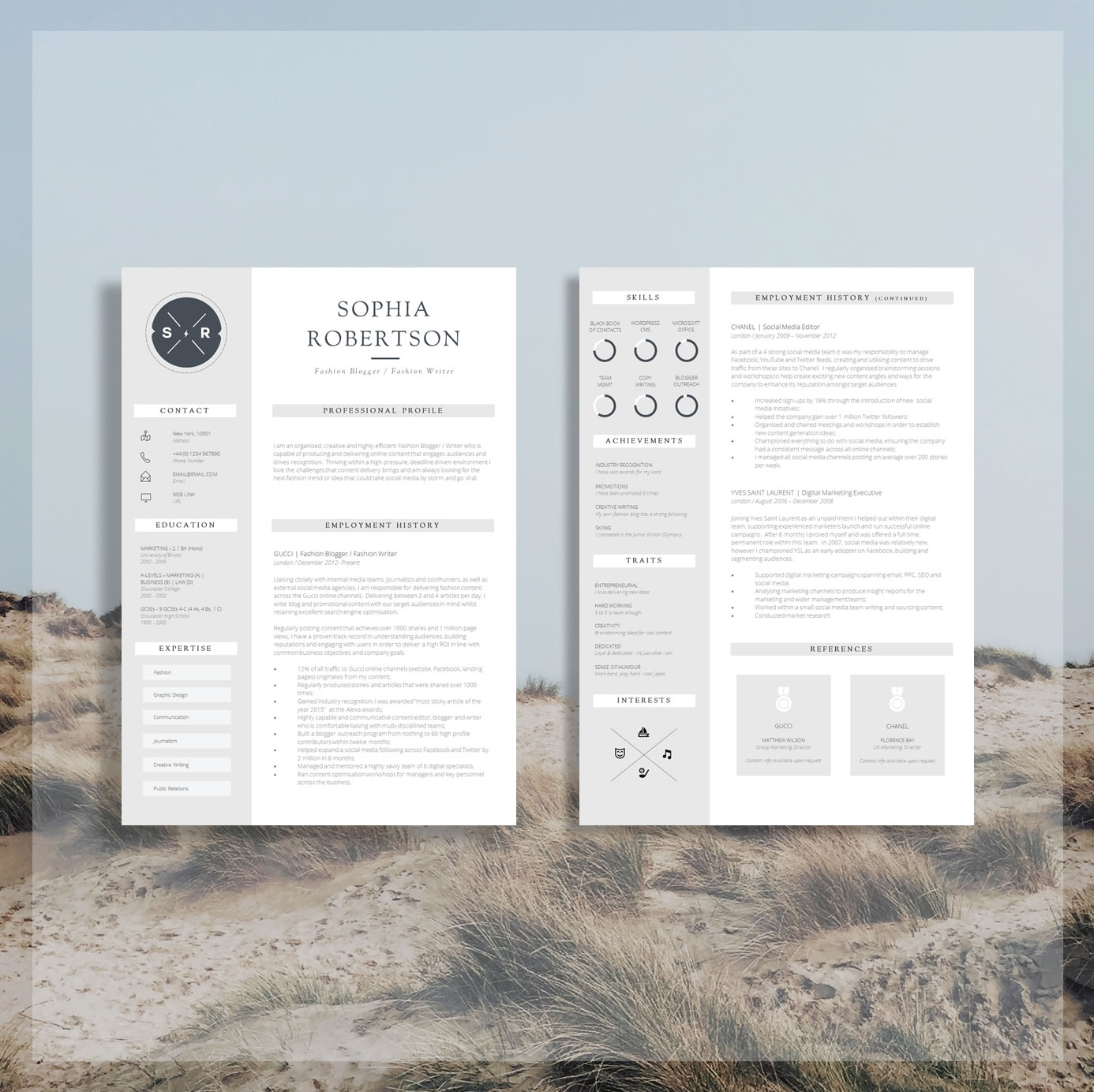 Creative Resume Template Teacher Resume Creative Cv Design Cover Letter Cv Guide For Ms Word Download Word Resume Chancery The Career