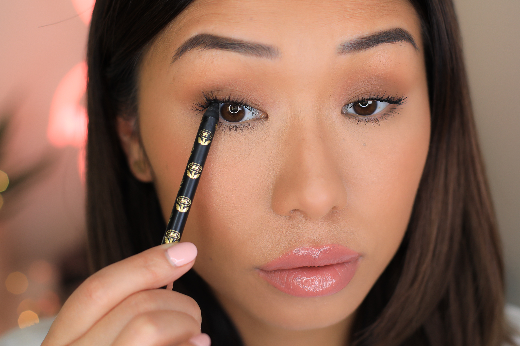 - Step 7: Tight line your upper water line to darken the lash line and create more depth, this gives the illusion of a fuller lash base!