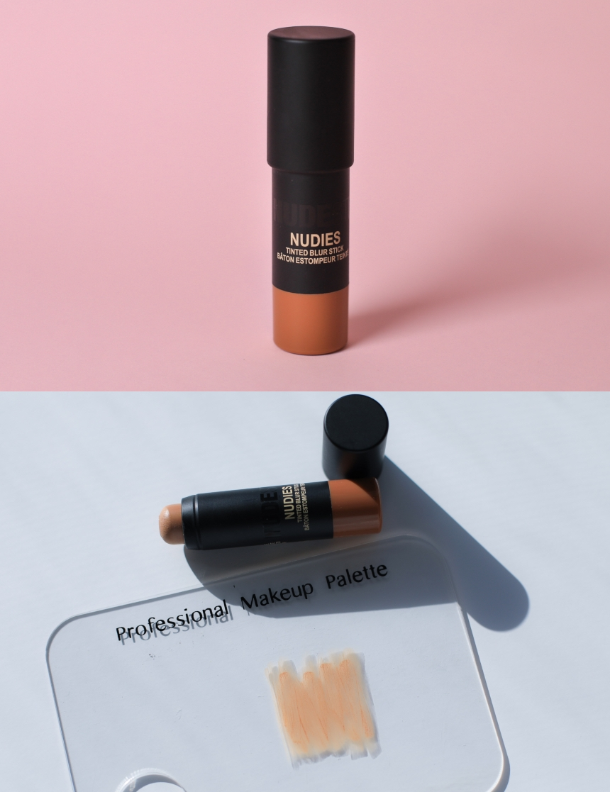"""Nude Stix Nudies Tinted Blur Stick - FIRST IMPRESSION:I applied using the stick applicator by drawing lines on each part of my face and then blended it out with a real techniques expert face brush. It is very sheer coverage, I would say almost see through and feels lightweight. Cream to powder finish, compared to the others it doesn't feel as hydrating as this is more of a stick formula instead of an actual cream or liquid formula. I think this product is great for someone who isn't looking at much coverage at all, replicating like """"real-looking skin"""",it applied and stayed matte within the first hour, it was very easy to blend, the only thing is it didn't cover up my redness, but the formula is made to be minimal coverage. Great over all product, for my own preference I would just prefer a cream formula for extra hydration and coverage.MY SHADE:Medium 6COVERAGE: SheerFINISH: MatteSKIN TYPE: All Skin Types but can feel dehydrating for dryer skin types.LONGEVITY (10hr test): As it was quite see through,I couldn't really tell if it faded or not as there wasn't a massive difference at beginning of application but my skin did stay blurred and matte all day.PRODUCT Specifics:This natural-looking tint blurs to create the appearance of smooth texture and even skin tone. The lightweight, cream-to-powder finish is suitable for all skin types.Tinted, light-reflecting minerals soften the appearance of uneven skin tone to provide a youthful, diffused glow. Shade-adjusting pigments blend with your real skin tone coming through to naturally tint your skin. The overall effect is a soft-matte glow.An innovative, soft-focus mineral technology that creates flawless-looking skin by smoothing and blurring the appearance of texture, blemishes, discoloration, lines, and pores.Price:$42 AU6.116g (approx 6ml)"""