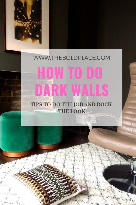 Pin to read later: Dark paint decorating tips
