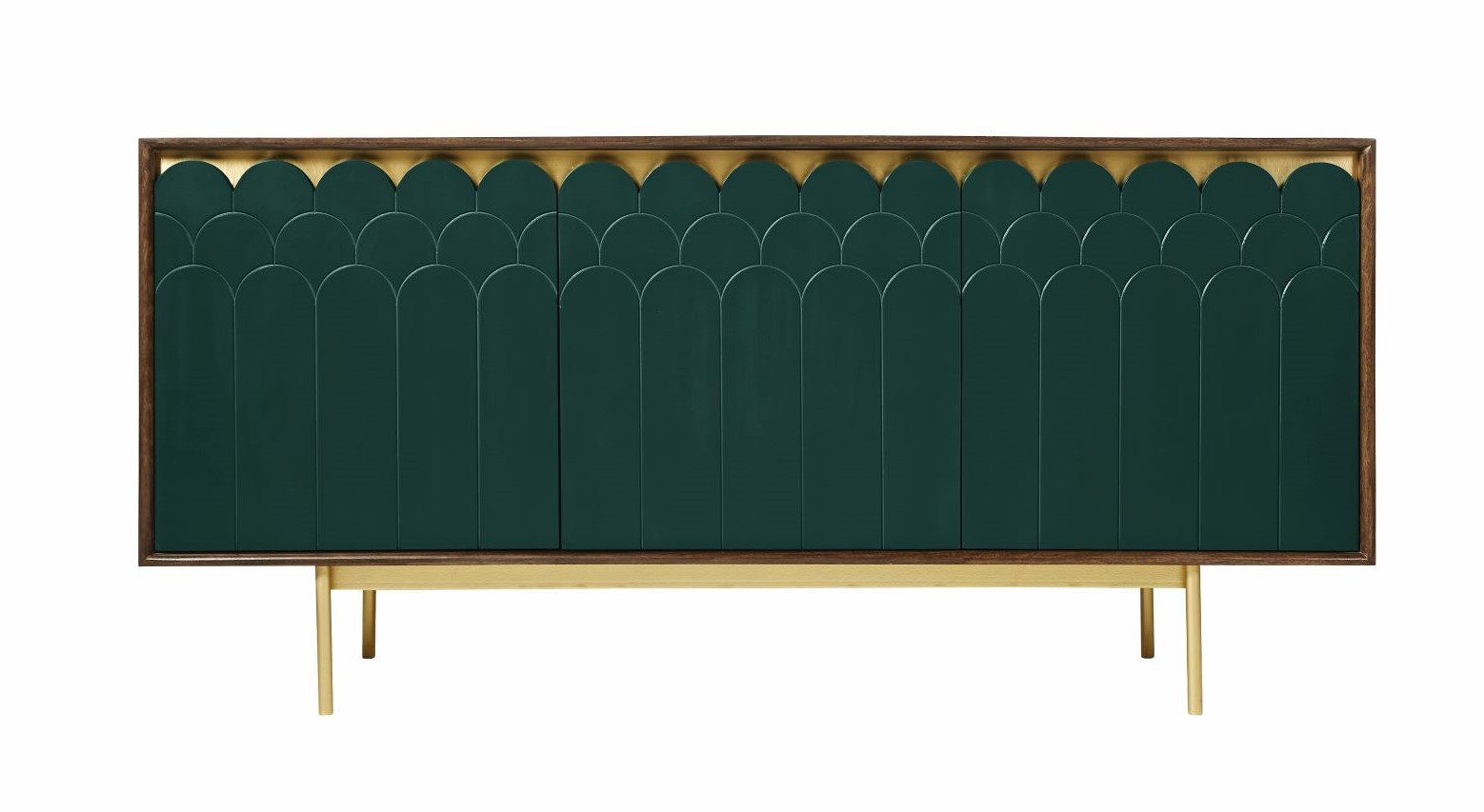 Connie  Deco-style sideboard in green - £749