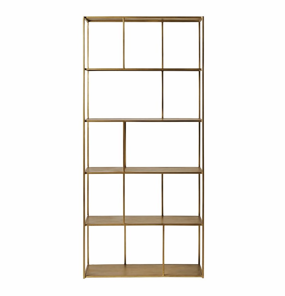 Aero  shelving unit in brass - £399