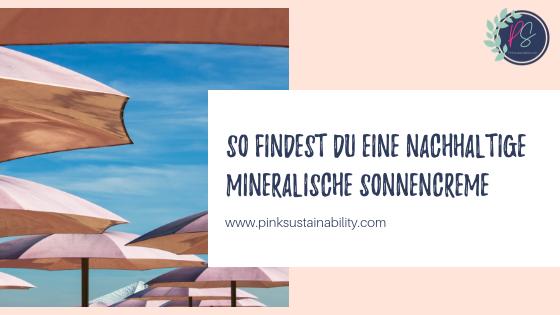 Mineralische Sonnencreme