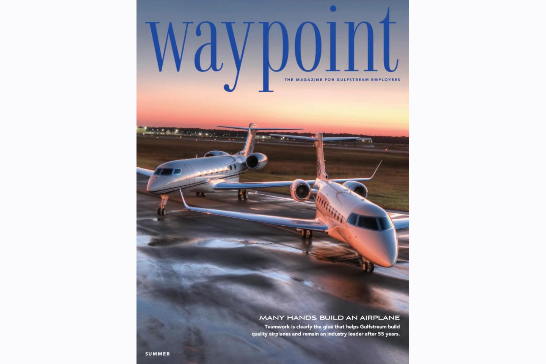Gulfstream's Waypoint magazine cover