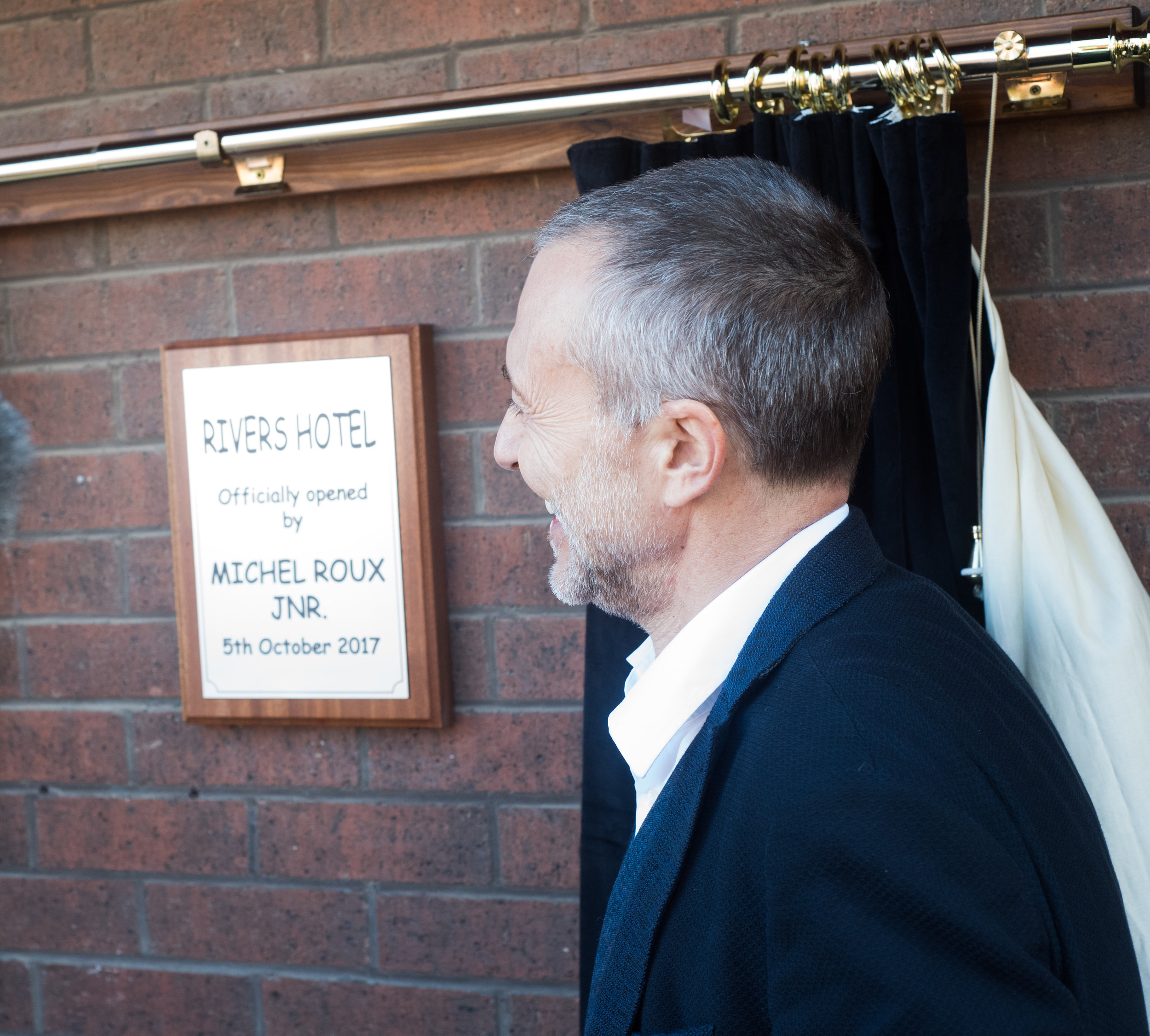 Rivers hotel official opening by Michel Roux Jr.