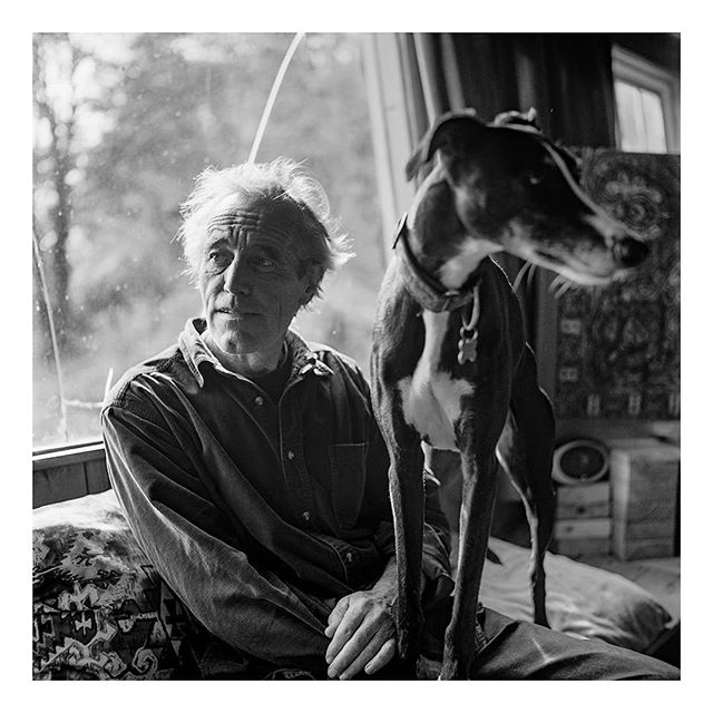 @borishallvighere on day 4 of my takeover. I'm postingimages from my first long form photographic project, Seasonal Blues. A series of portraits and landscapes documenting rural life in the South West,during the short light and long months of winter.This image is of Neil, and his dog, who live in the house in the forest where John Fowles wrote the French Lieutenant's Woman.  Taken on a #Yashicamat124g and #acros100 film. And scanned on Photographique's fancy new Flextight scanner.  #film #filmfeed #filmphotography #analog #anaoguephotography #analogueforever #mediumformat #120film #portrait #portraiture #documentaryphotography #devon #photographiqueuky
