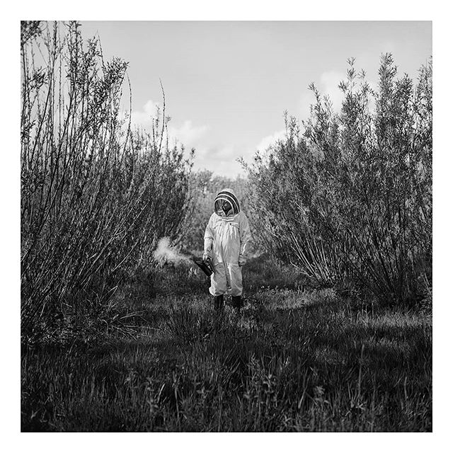 @borishallvighere on day 6 of my takeover. I'm postingimages from my first long form photographic project, Seasonal Blues. A series of portraits and landscapes documenting rural life in the South West,during the short light and long months of winter.This image is of Julian, a beekeeper, with a severe allergy to bee's... Taken on a #Yashicamat124g and #acros100 film. And scanned on Photographique's fancy new Flextight scanner.  #film #filmfeed #filmphotography #analog #anaoguephotography #analogueforever #mediumformat #120film #portrait #portraiture #documentaryphotography #devon #photographiqueuk