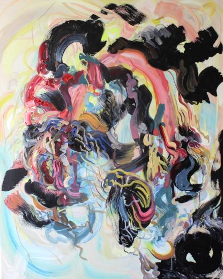 'Shakey Rainbow', Oil on canvas, 100 x 80cm 2017