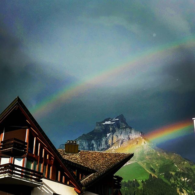 "W A L K // ""Stop searching for the pot of gold. Stand back and enjoy the view"" #anon. And on and on. #another #stupid #insta #quote #allthefilters . @quattrosportengelberg  @dpsskis @verticalunit . #rainbow #hail #summer #storm #engelbergtitlis #obwalden #nidwaldentourismus #inlovewithswitzerland #dpsambassador #Engelberg  #luzern  #livinginluzern  #swissmountainair #switzerland_vacations  #Switzerland  #blickheimat  #offpiste #discover_hotels #labsofinstagram #traveldiaries #explore #wanderlust #adventure"