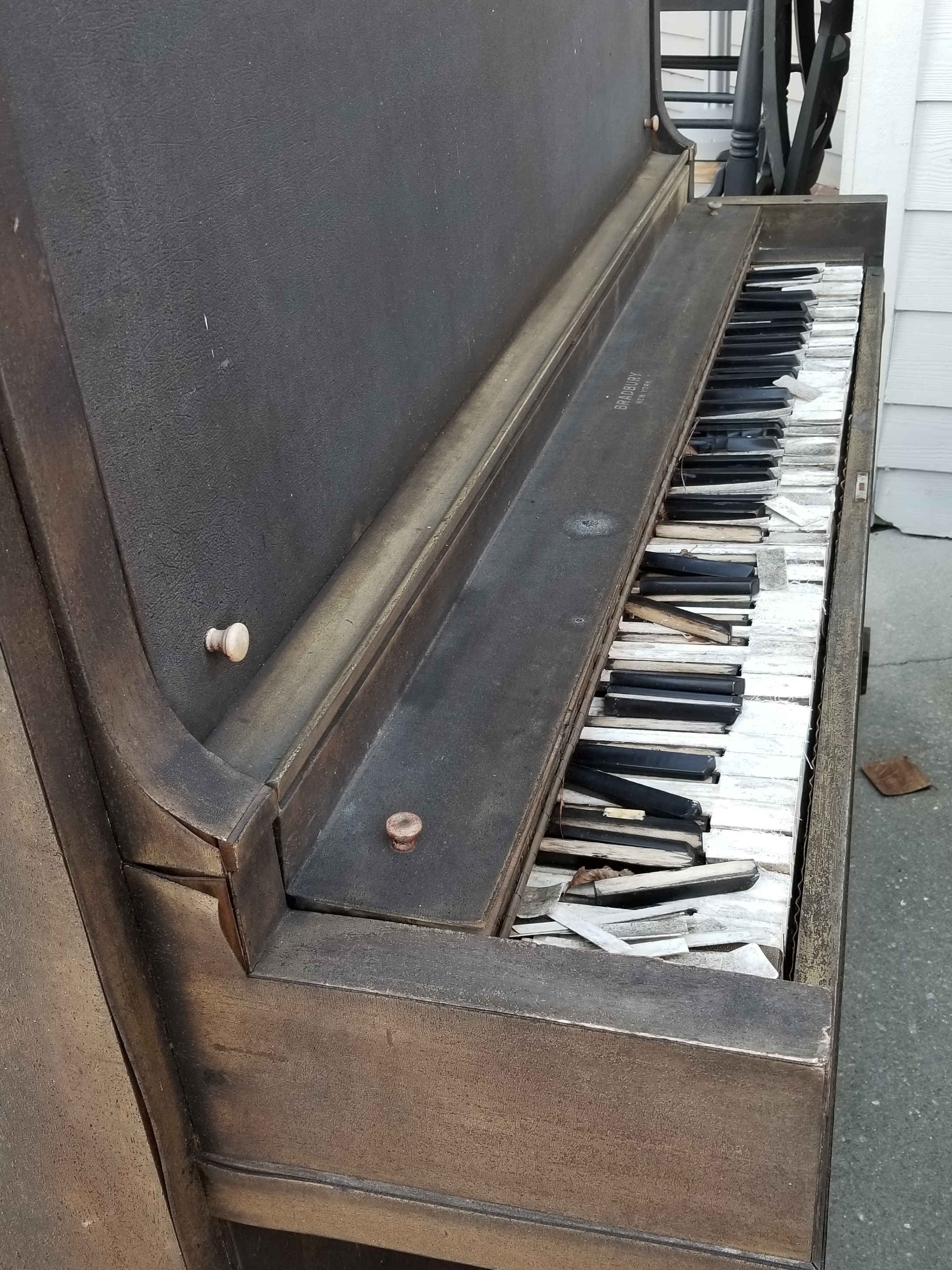 We saw plenty of hurricane damage - shingles and siding missing from homes, docks ripped clear away from pilings, but this piano stood out as representative of how quickly a storm can destroy things.