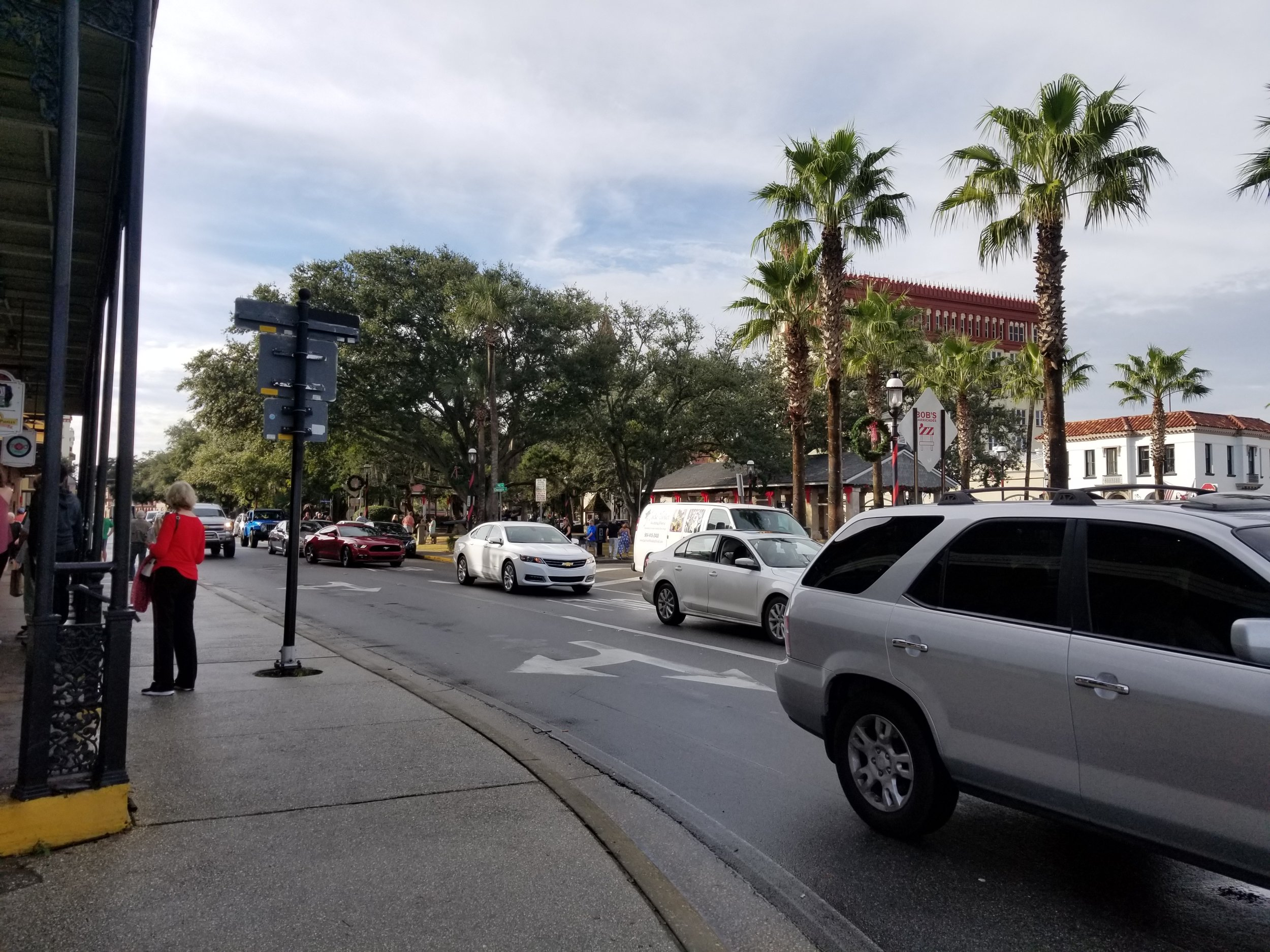 Turning the corner onto A1A.