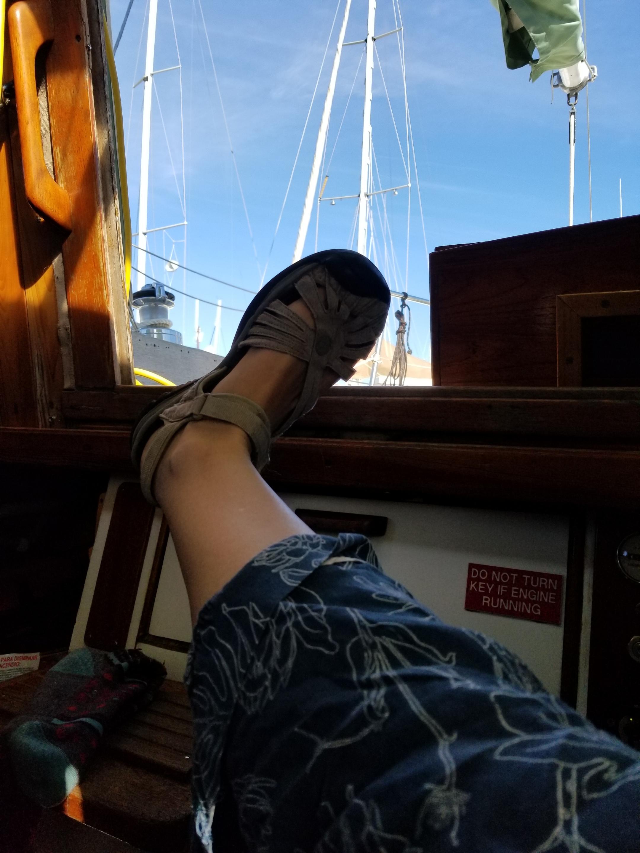 Sandals weather! -