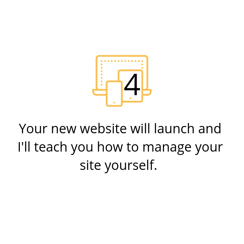 Launch and learn: You'll learn how to manage your Squarespace website in a 60 minute session with me, Angela Meredith of Less Stress Design.