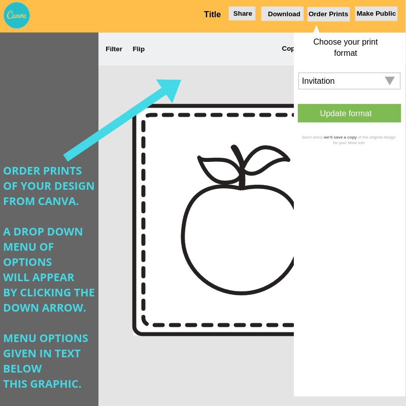 How to order prints in Canva of your design projects.