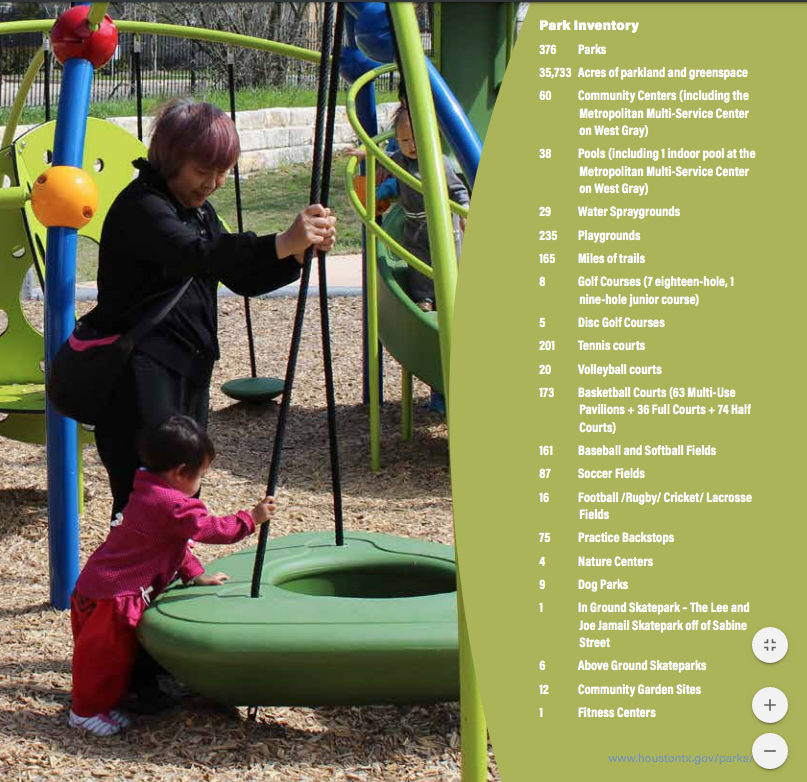 Houston's Parks and Recreation Department works to create fun and exciting activities for the whole family.