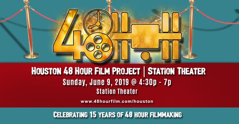 48 Hour Film Project: Call for Participants - Sunday, June 9, 2019 at 4:30 – 7Station Theater1230 Houston Ave, Houston, Texas 77007Don't miss this opportunity to meet other filmmakers and artists that you may want to work with the weekend of Houston's 48HFP, June 28 - 30, when you'll compete to see who can make the best short film in only 48 hours!
