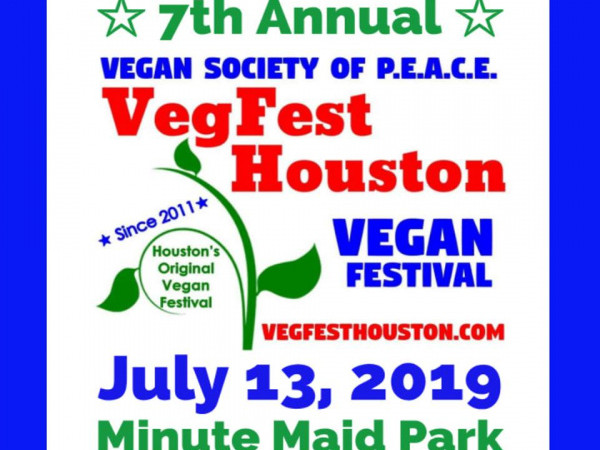 VegFest Houston - Saturday, July 13 11 AM - 5 pmMinute Maid Park - 501 CRAWFORD STREET | HOUSTON, TX 77002General admission: Free