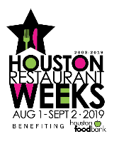 Houston Restaurant Weeks Benefitting the Food Bank - Aug. 1 - Sept. 2Various Restaurants Around Houston
